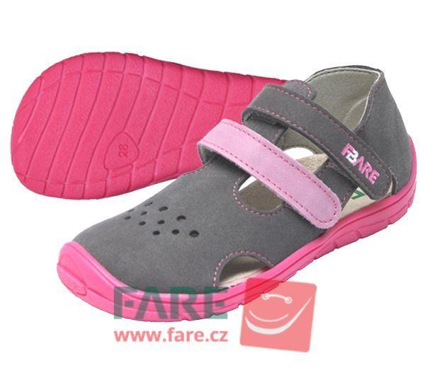 Barefoot FARE BARE dětské letní boty 5262252 bosá
