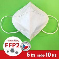 Respirátor / Filtrační polomaska FFP2 5 ks