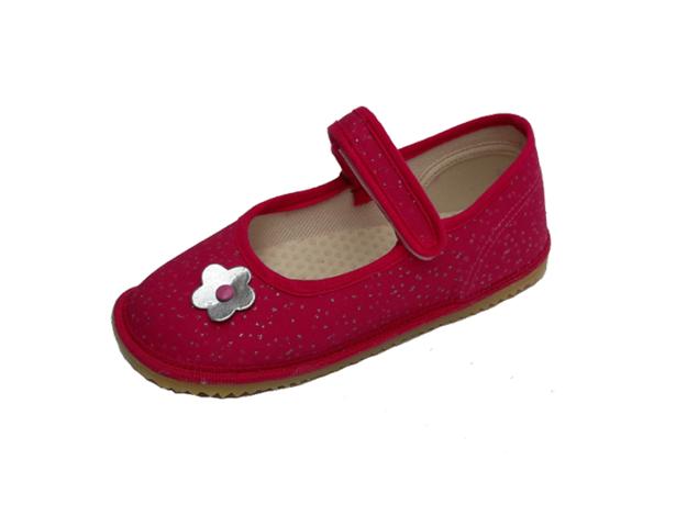 Barefoot Beda barefoot - balerínky - růžová se třpytkami bosá